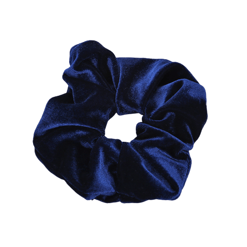navy velvet hair scrunchie