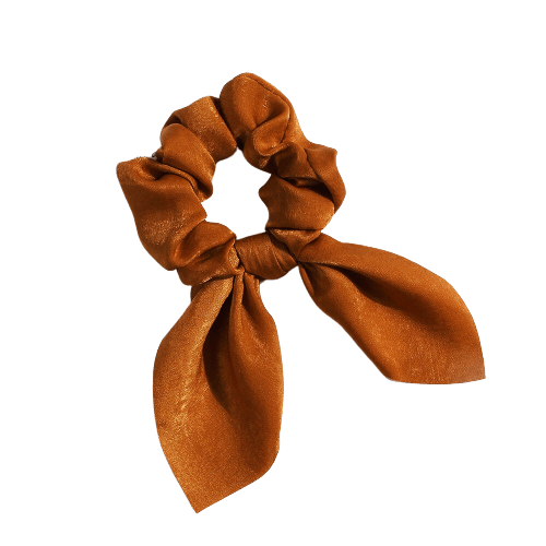 dark brown bow scrunchie