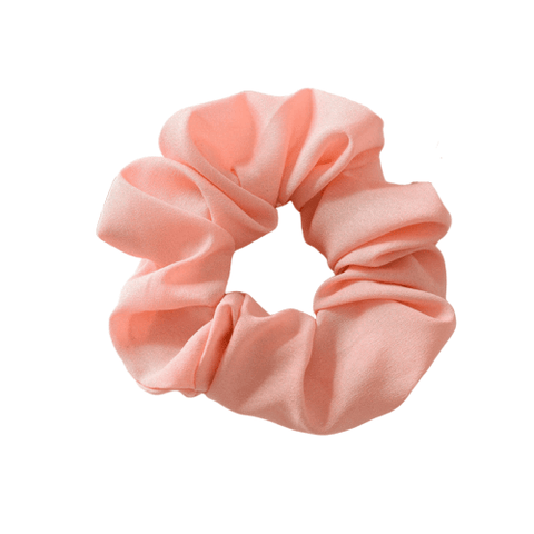 solid pink hair scrunchie