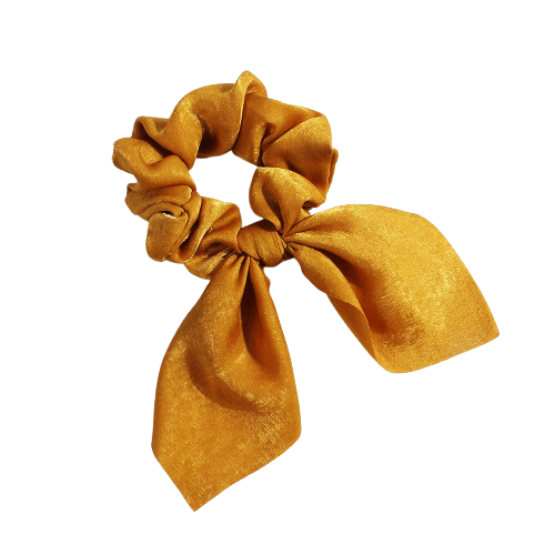 chocolate bow scrunchie