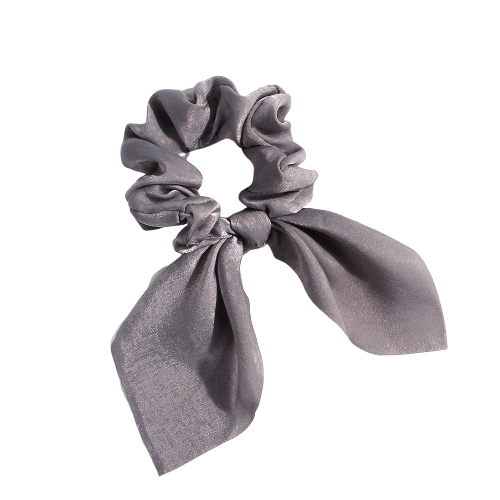 gray bow scrunchie