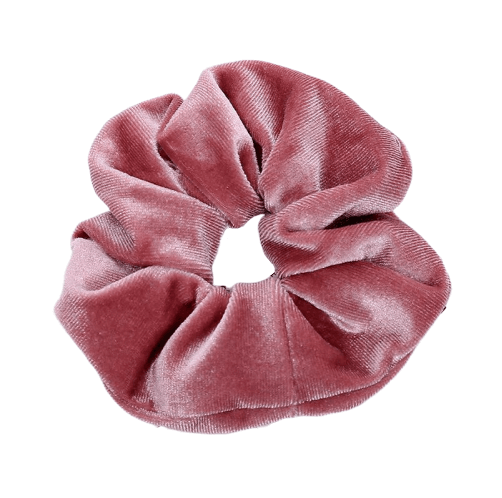 light pink velvet hair scrunchie