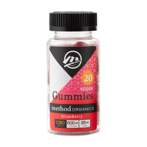 25 MG CBD Gummies Strawberry 20 Count