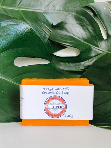 Premium Coconut Oil Papaya with Goat Milk Soap