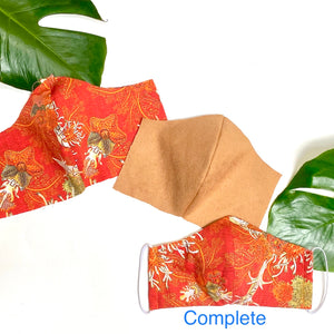 Orange under the sea Face Masks - spring/summer weight