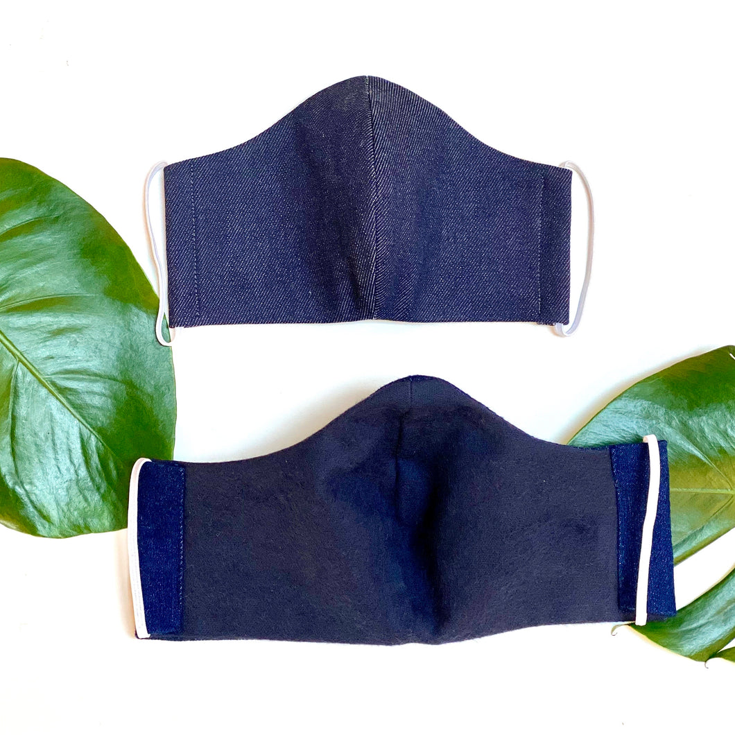 Denim Face Mask - spring/fall weight