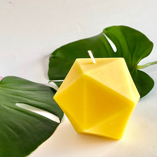 Beeswax 3D printed candle coconut and lime