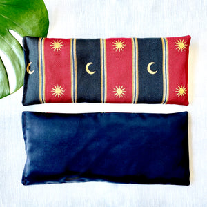 Eye Pillow - Sun & Moon in burgundy & black