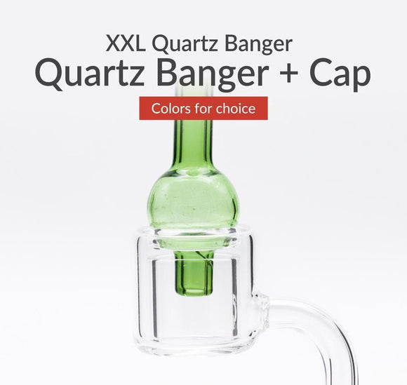 2018 new XL XXL quartz banger Thermal Banger Nail & Carb Cap 100% Quartz Honey bucket 10mm 14mm Male Female for Oil Dab Rigs