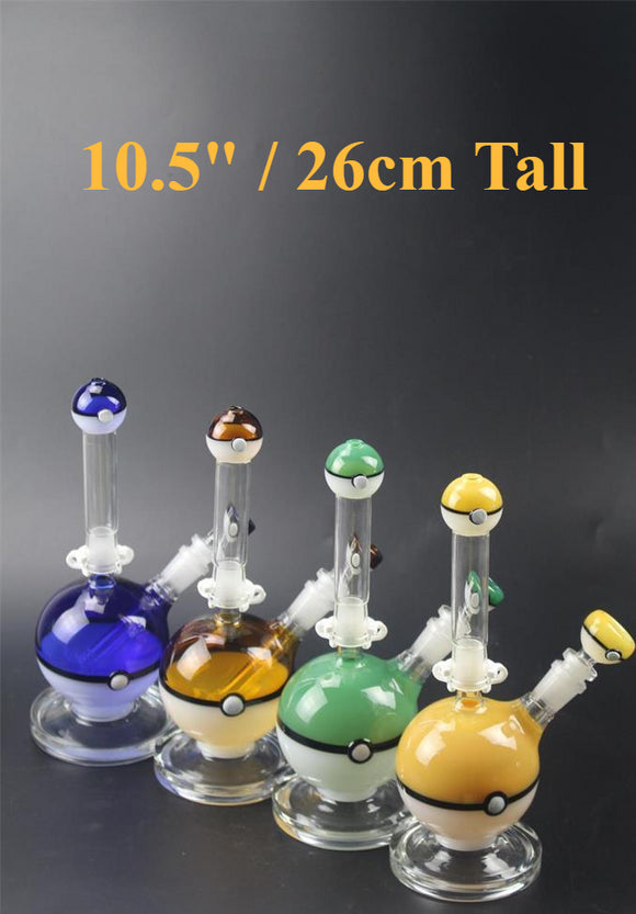 26cm Height Amber Green blue yellows Sherlock hand pipe glass burner Mini Smoking pipe Glass Blunt glass bongs for dry herb