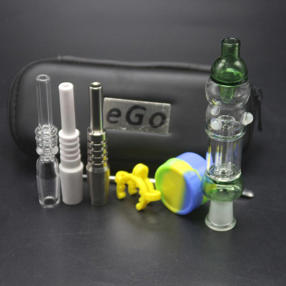 Grace Mini Nectar Collector with eGo Carry Case With 10mm or 14mm Ceramic or Quartz Tip