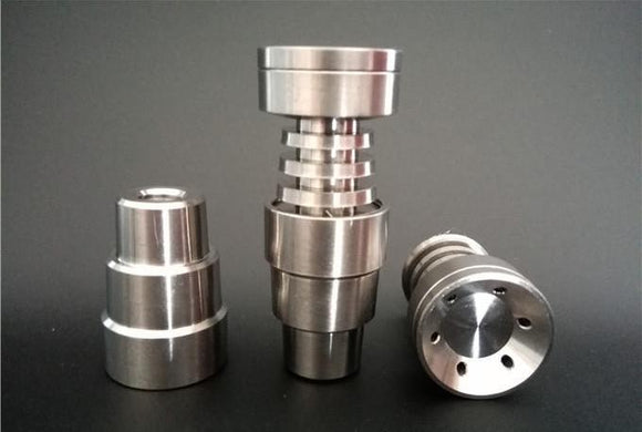 4 In 1 Universal Domeless Titanium Nail fits to 14mm &18mm for Water Pipe Glass Bong Smoking.
