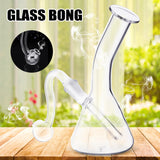 Water Glass Pipe Bottle H ookah Shisha Oil Burner Pipe for Smoking Herb T obacco Oil  4.3""