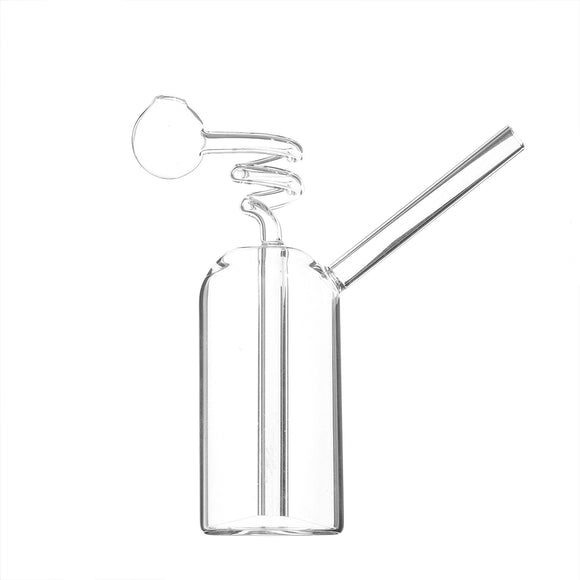 Glass Water Pipe Bottle Straw Glassware