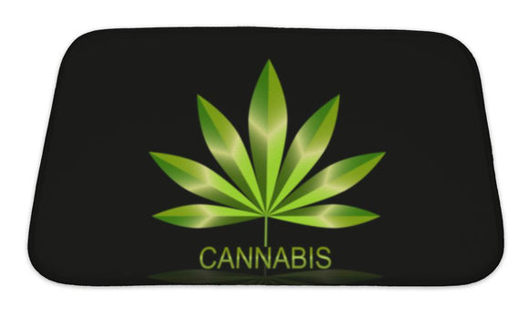 Bath Mat, Cannabis Leaf Icon