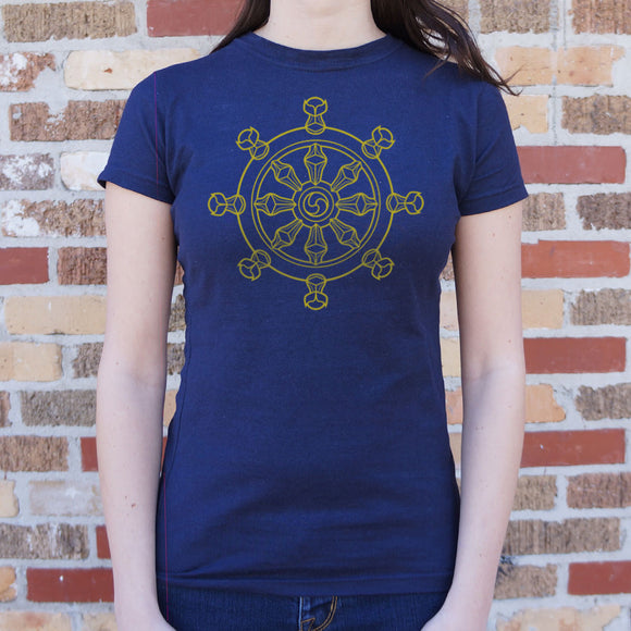 Dharma Wheel T-Shirt (Ladies)