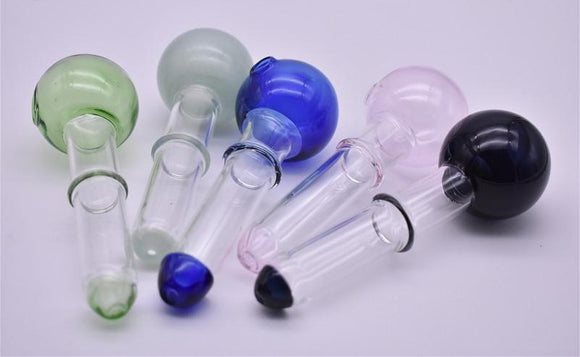 12cm long with 40mm ball Big colored Oil Burner Thickness glass hand pipe colorful glass tube glass puff tobacco bowl