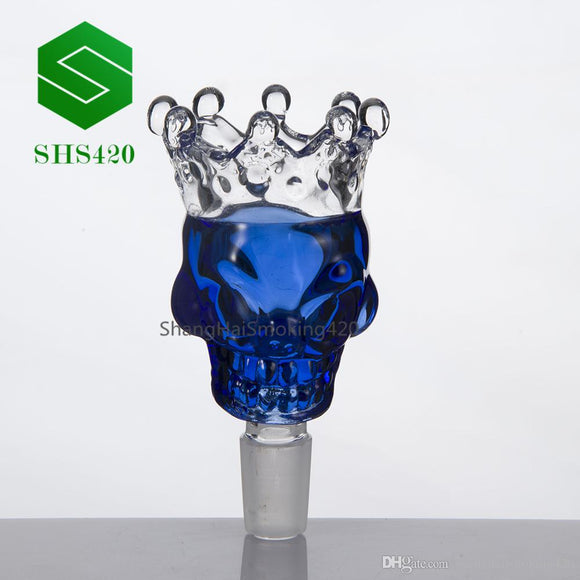Herb Holder Crown Giant Skull Style Glass Bowl Glass 14mm 18mm Male Slide Smoke Accessory Glass Bong Herb Grinder Quartz Banger Nails Cap