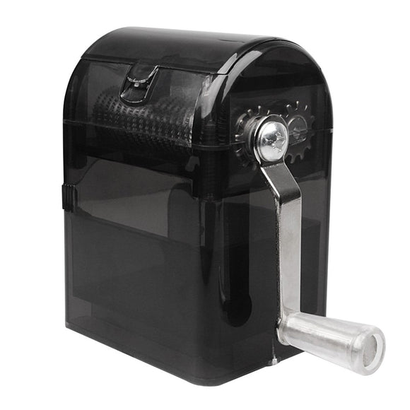 Hand Crank Crusher Tobacco / Herb Cutter with Storage Case Hand Muller Grinder Black FREE SHIPPING
