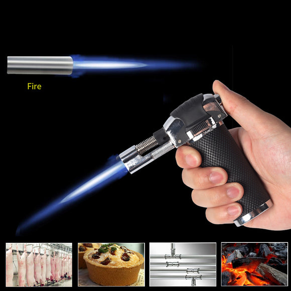 Flame Gun Torch Butane Lighter Electric Ignitor Outdoor Gas Torch Camping BBQ Soldering Welding Tool