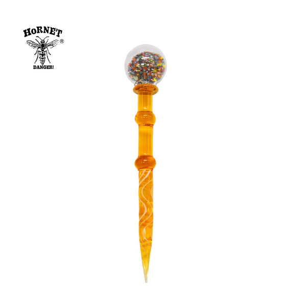 HORNET Premium Quartz Carb Cap Dabber Wax Dad Tool 5.3 Inch Quartz Handle Carb Cap for Quartz Banger Glass Smoking Water Pipe