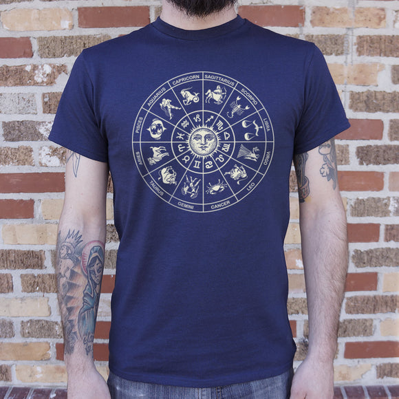 Zodiac Wheel T-Shirt (Mens)