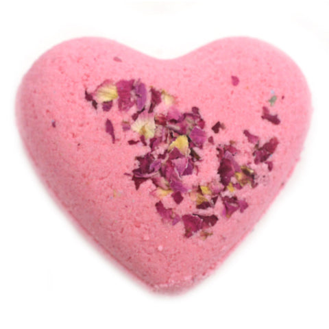 Sultry Black Jasmine Heart Bath Bomb - Large