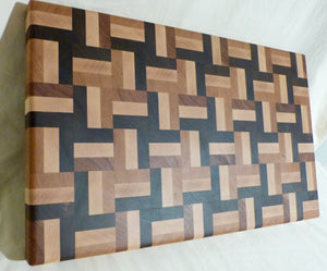 Cherry, Maple and Walnut Large End Grain Board