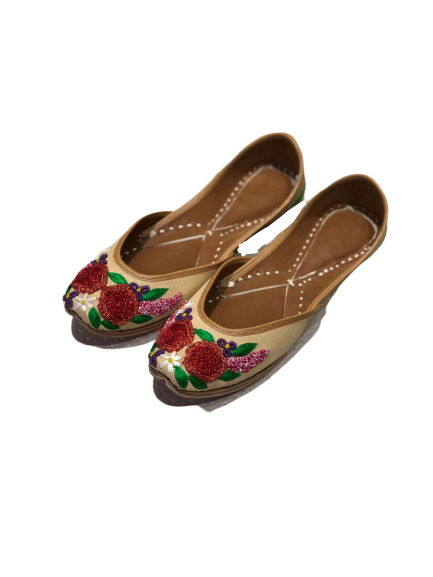 Perfect Panache - 3D Rose Jutti for womens