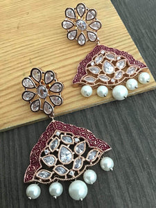 Buy Polki Indian Party Aileen Earrings: Perfect Panache