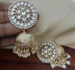 Buy Clustered Pearl Jhumki Indian Party Anusha Earrings: Perfect Panache
