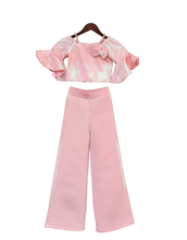 Load image into Gallery viewer, Girls Baby Pink Sequence Top With Pant