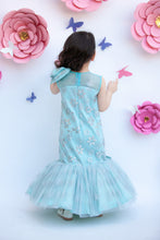 Load image into Gallery viewer, Girls Blue Glitter Gown