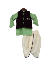 Load image into Gallery viewer, Boys Burgandi Velvet Nehru Jacket Set