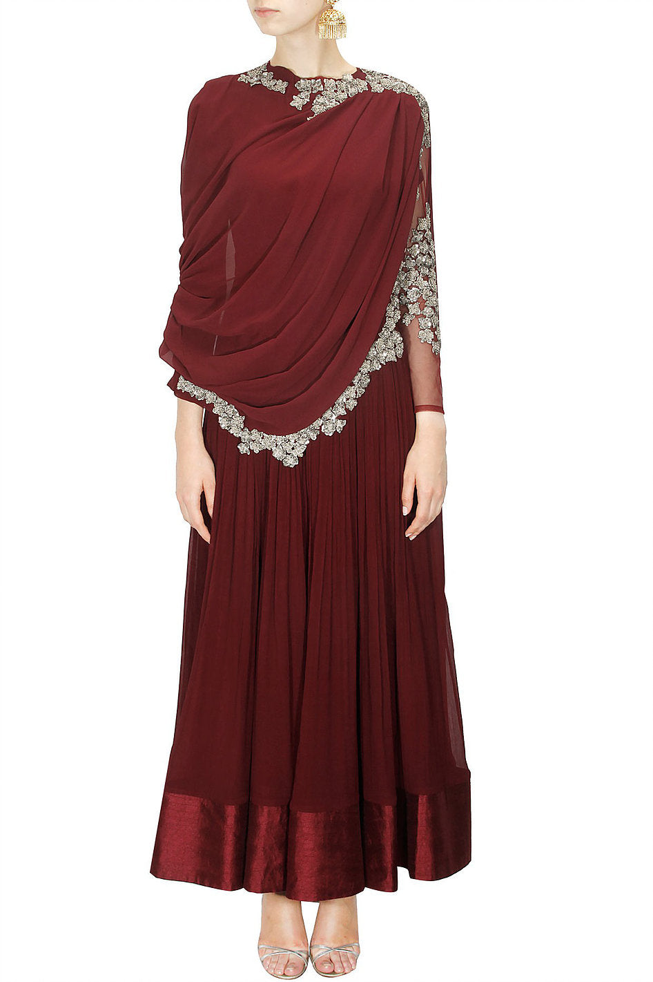 Drape Sleeves Gown for Womens