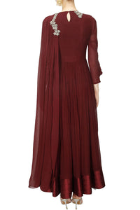 Drape Sleeves Gown