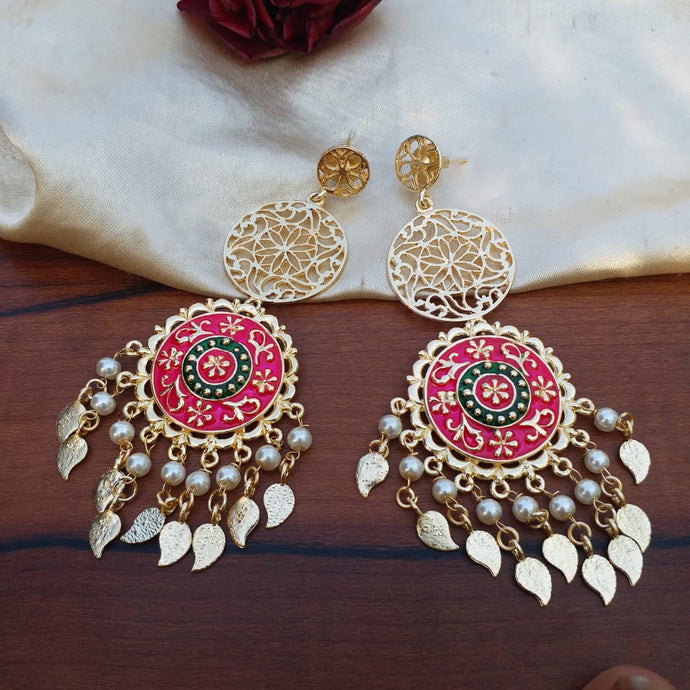 Buy Meenakari filgiree Indian Party Elisa Earrings: Perfect Panache