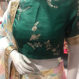 Perfect Panache - Floral Lehanga With Handwork