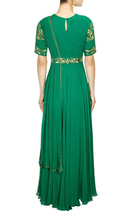 Georgette Saree Gown for womens online in USA