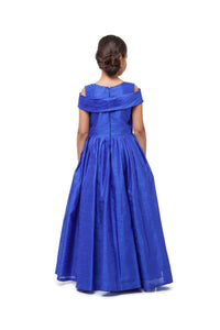 Girls Bright Ink Blue Gown