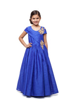 Load image into Gallery viewer, Girls Bright Ink Blue Gown