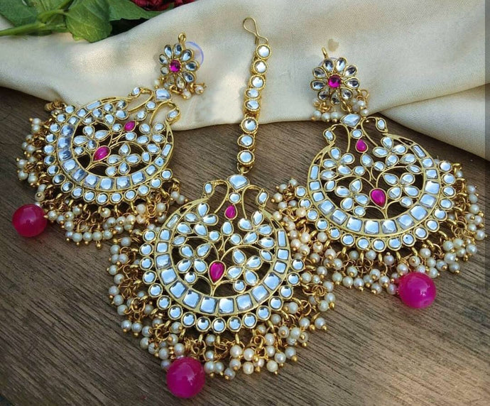 Buy Kundan Indian Party Lily Earrings: Perfect Panache