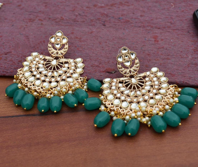Buy Kundan Indian Party Malia Earrings: Perfect Panache