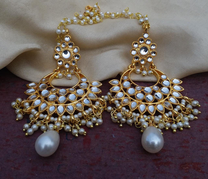 Buy Kundan Indian Party Mansi Earrings: Perfect Panache
