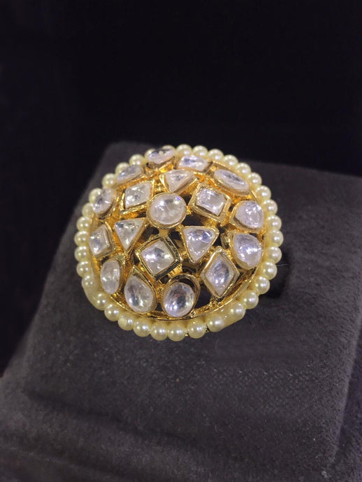 Buy Kundan Indian Party Maria Ring: Perfect Panache