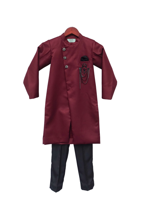 Boys Maroon Ajkan With Pant