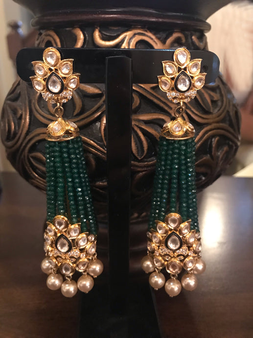 Buy Kundan Indian Party Mary Earrings: Perfect Panache