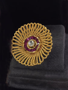 Buy Gold Indian Party Meera Ring: Perfect Panache