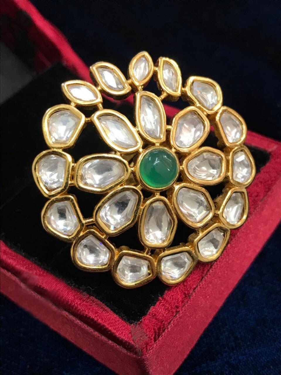 Buy Kundan Indian Party Meghna Ring: Perfect Panache