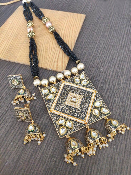 Buy Kundan with pearls Indian Party Mehr Necklace: Perfect Panache